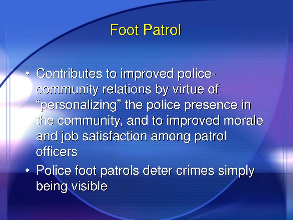 Foot Patrol