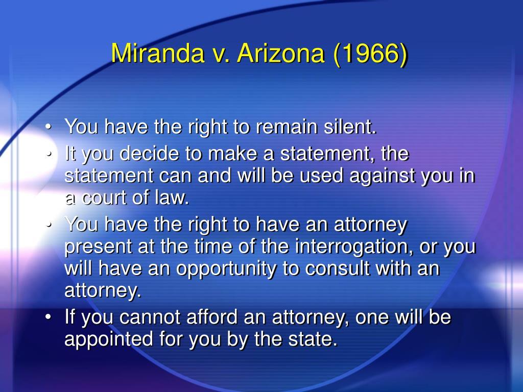 Miranda v. Arizona (1966)