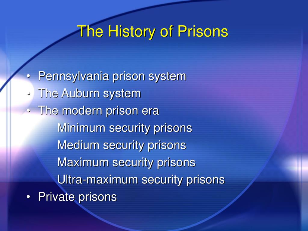 The History of Prisons
