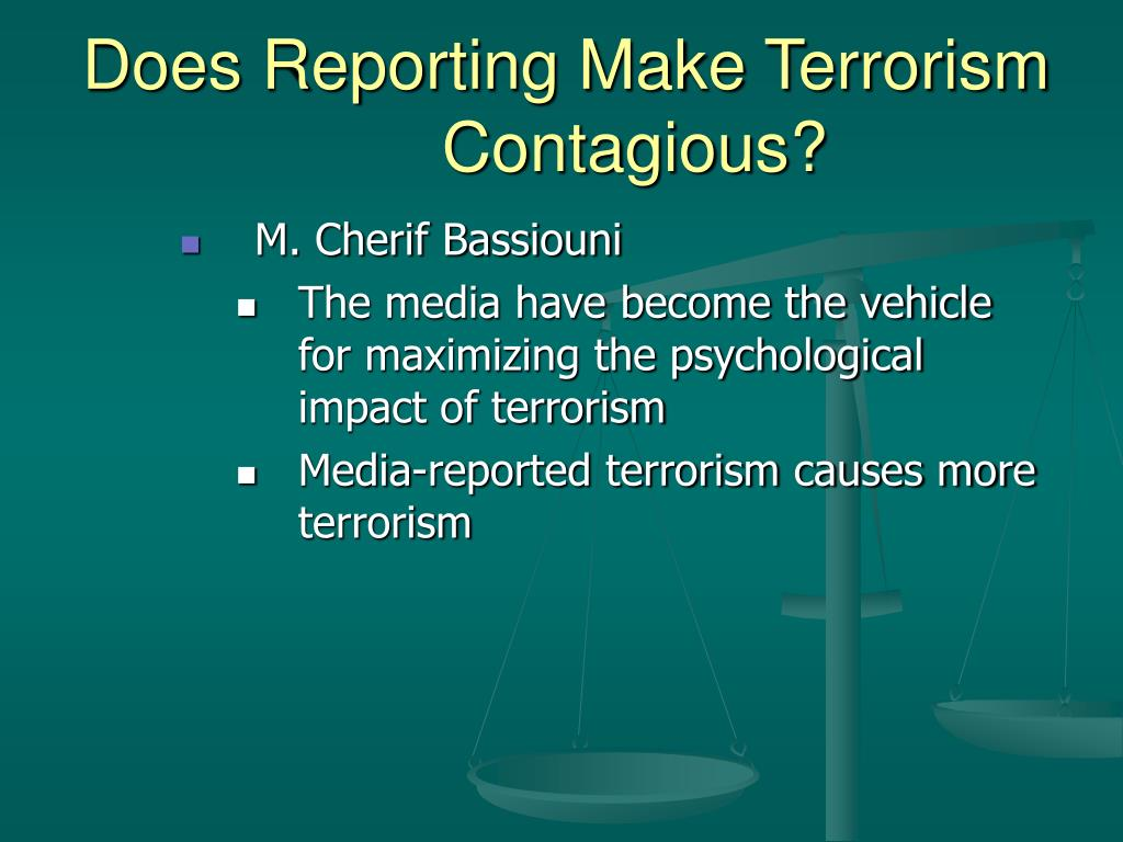 Does Reporting Make Terrorism Contagious?