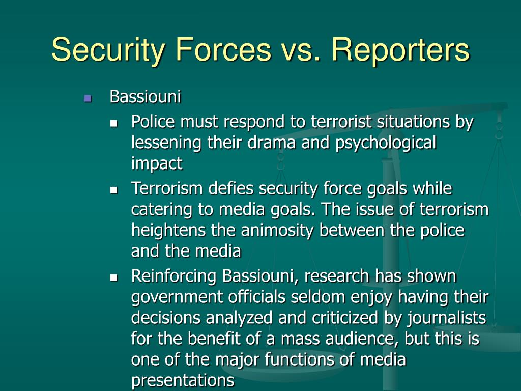 Security Forces vs. Reporters