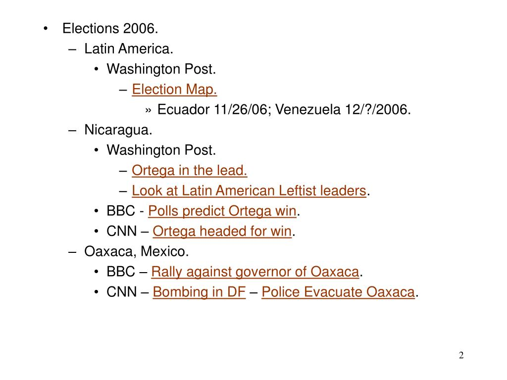 Elections 2006.