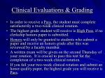 clinical evaluations grading
