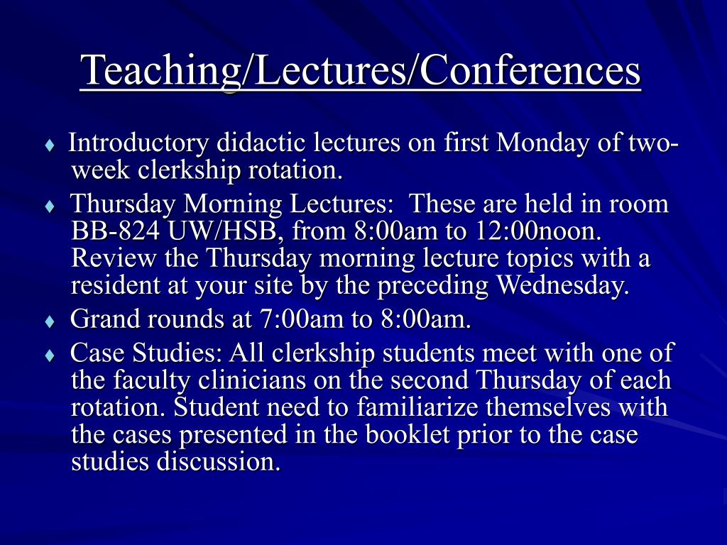 Teaching/Lectures/Conferences