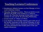 teaching lectures conferences