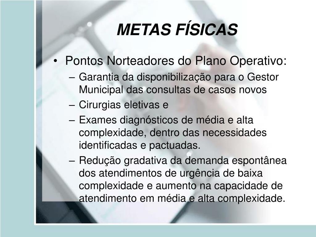 METAS FÍSICAS