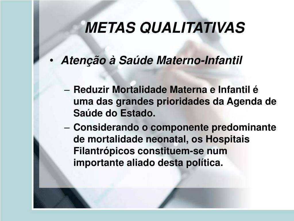 METAS QUALITATIVAS