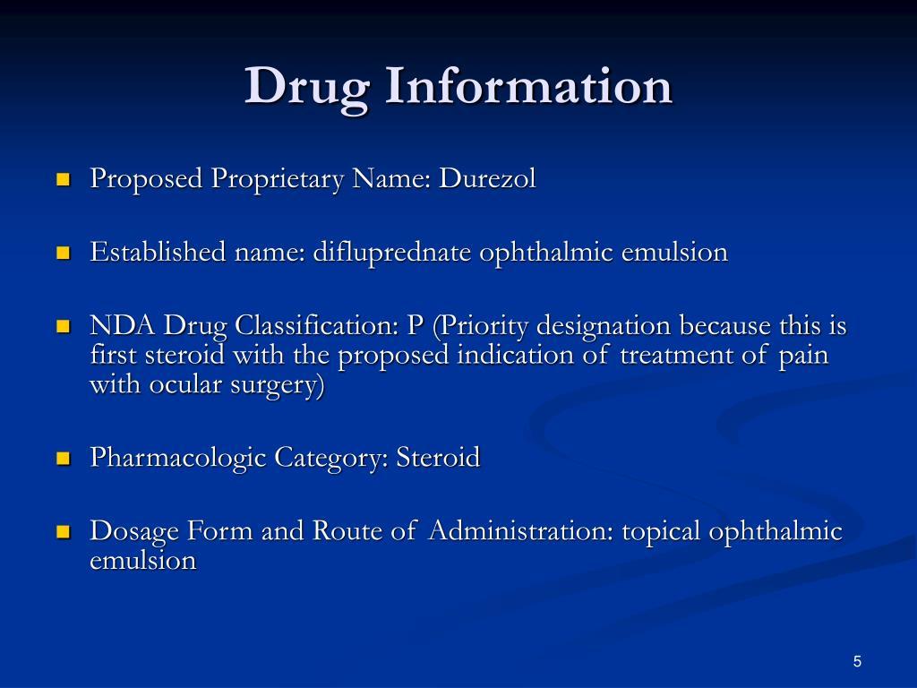 Drug Information