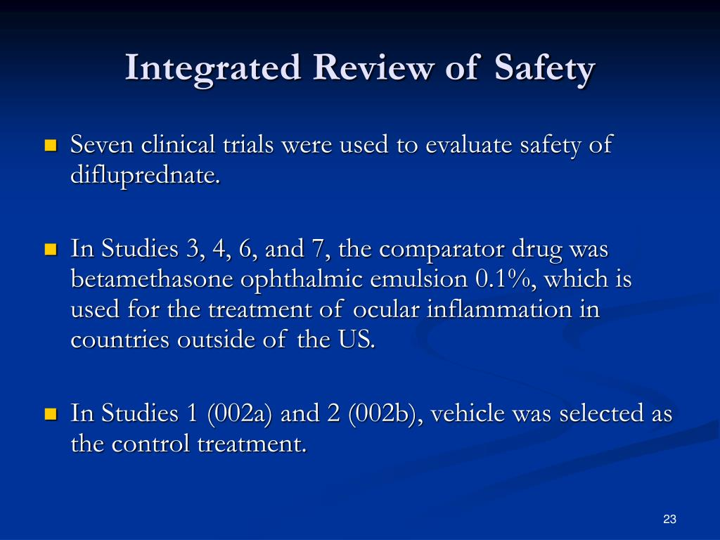 Integrated Review of Safety