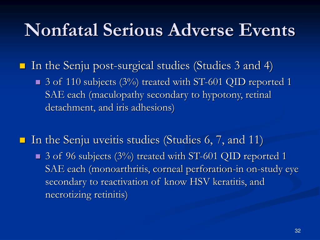Nonfatal Serious Adverse Events