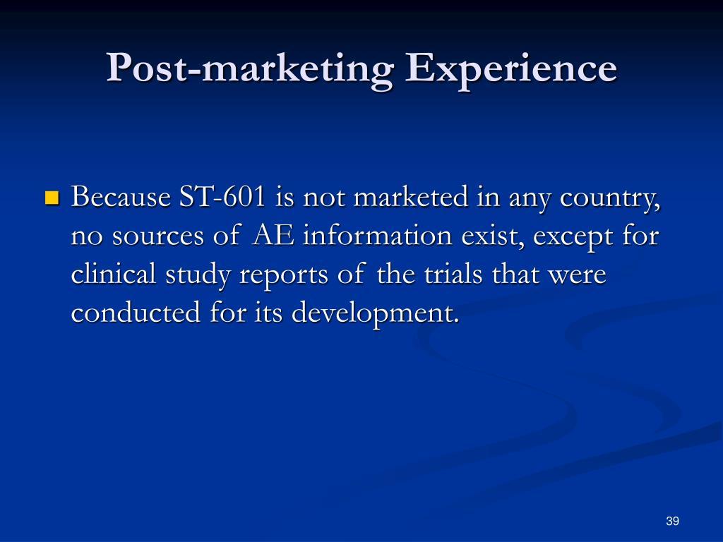 Post-marketing Experience