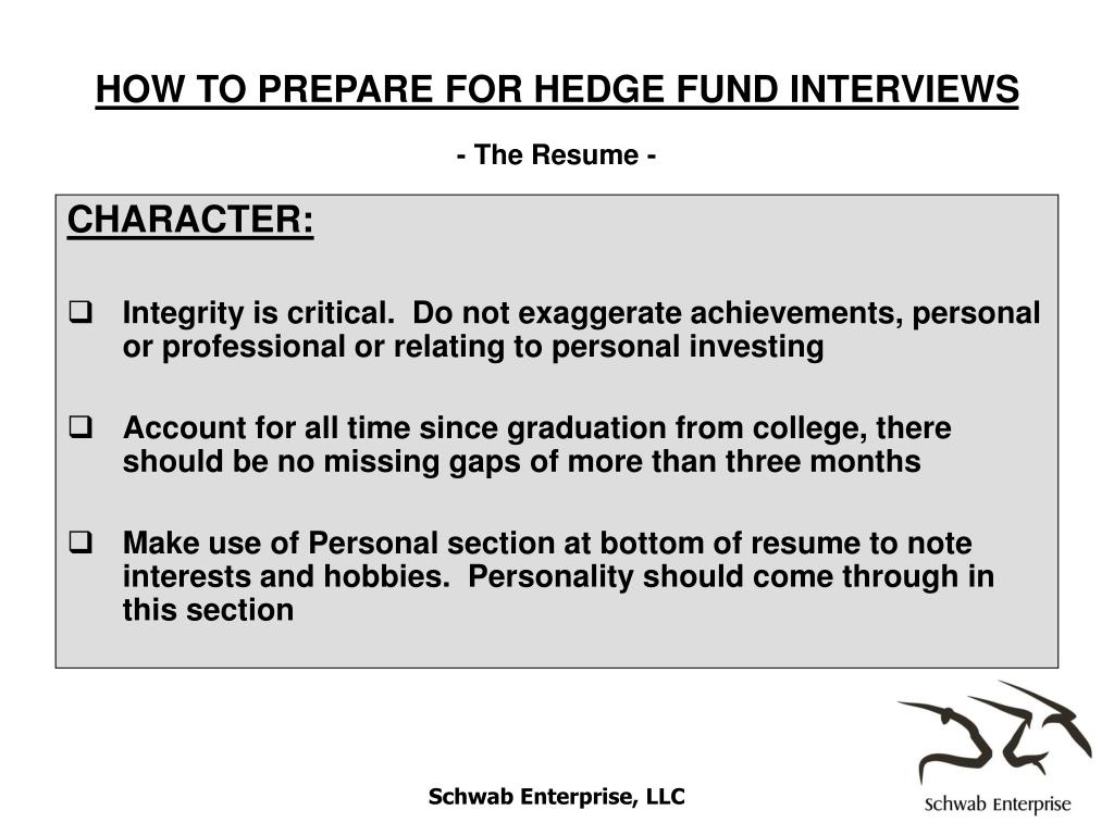 HOW TO PREPARE FOR HEDGE FUND INTERVIEWS