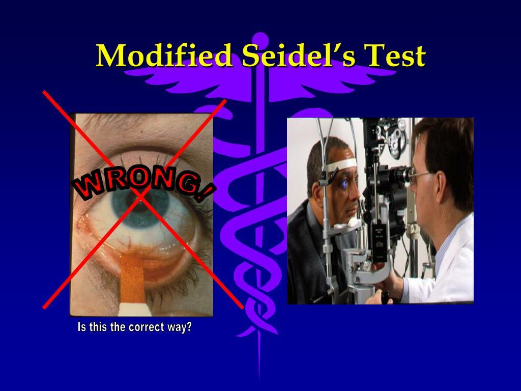 Modified Seidel's Test