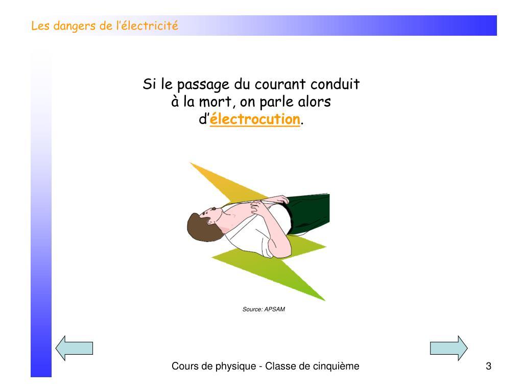 ppt les dangers de l lectricit powerpoint presentation id 228509. Black Bedroom Furniture Sets. Home Design Ideas