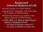 background school of medicine at uab