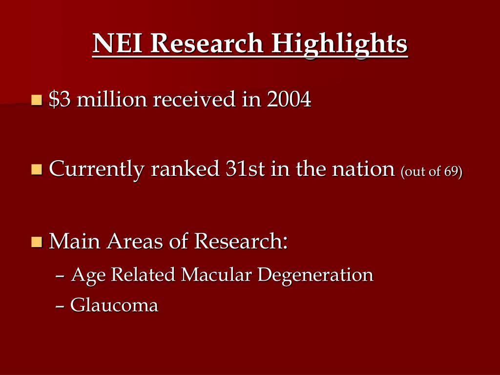 NEI Research Highlights