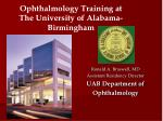 ronald a braswell md assistant residency director uab department of ophthalmology