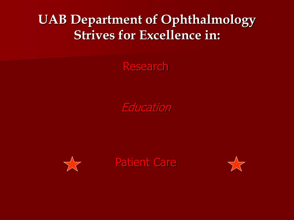 UAB Department of Ophthalmology