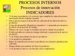 procesos internos procesos de innovaci n indicadores