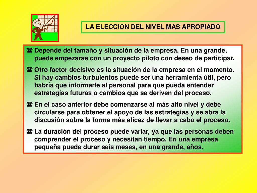 LA ELECCION DEL NIVEL MAS APROPIADO