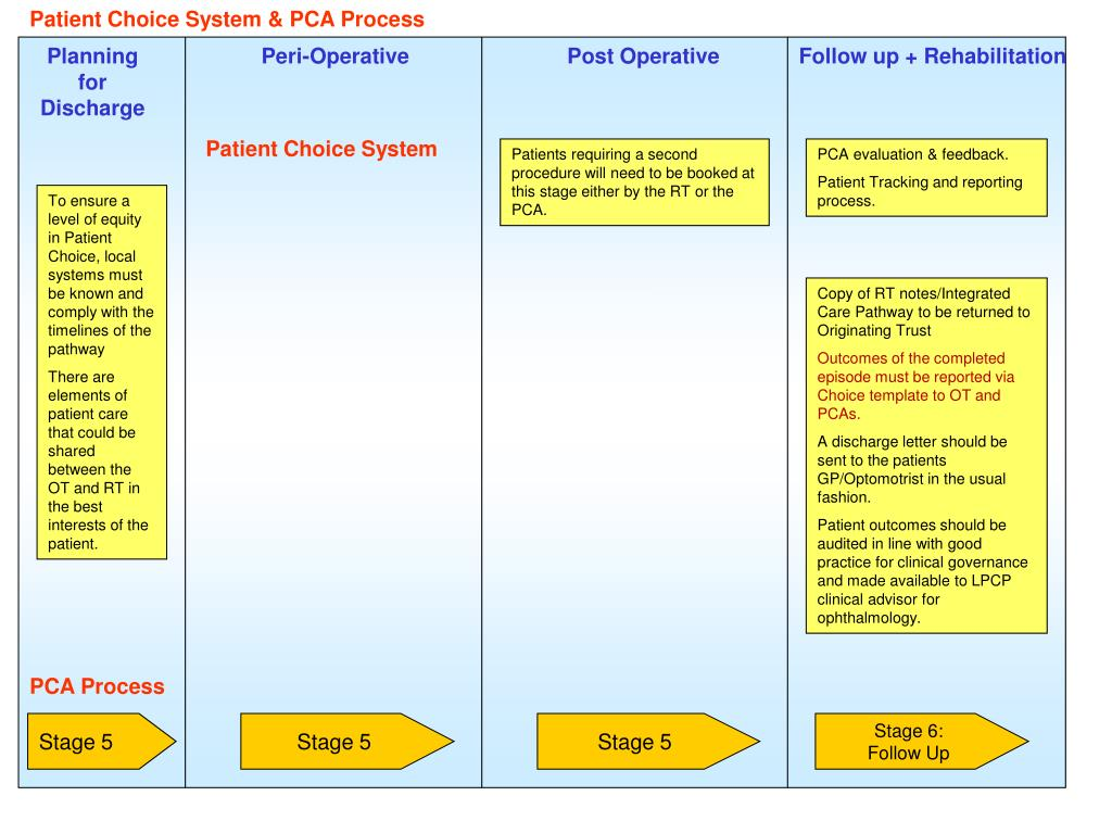 Patient Choice System & PCA Process