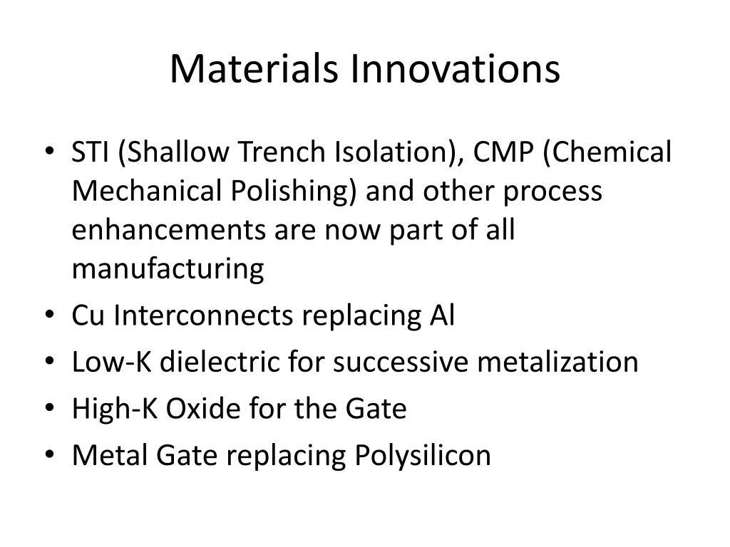 Materials Innovations