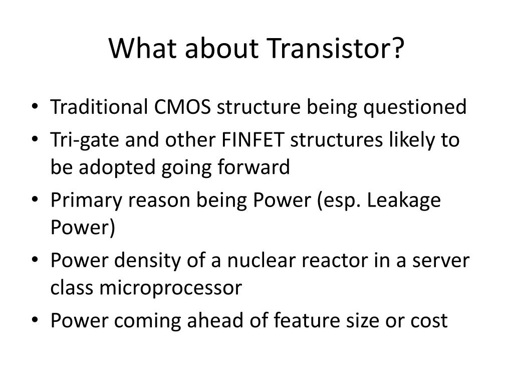 What about Transistor?