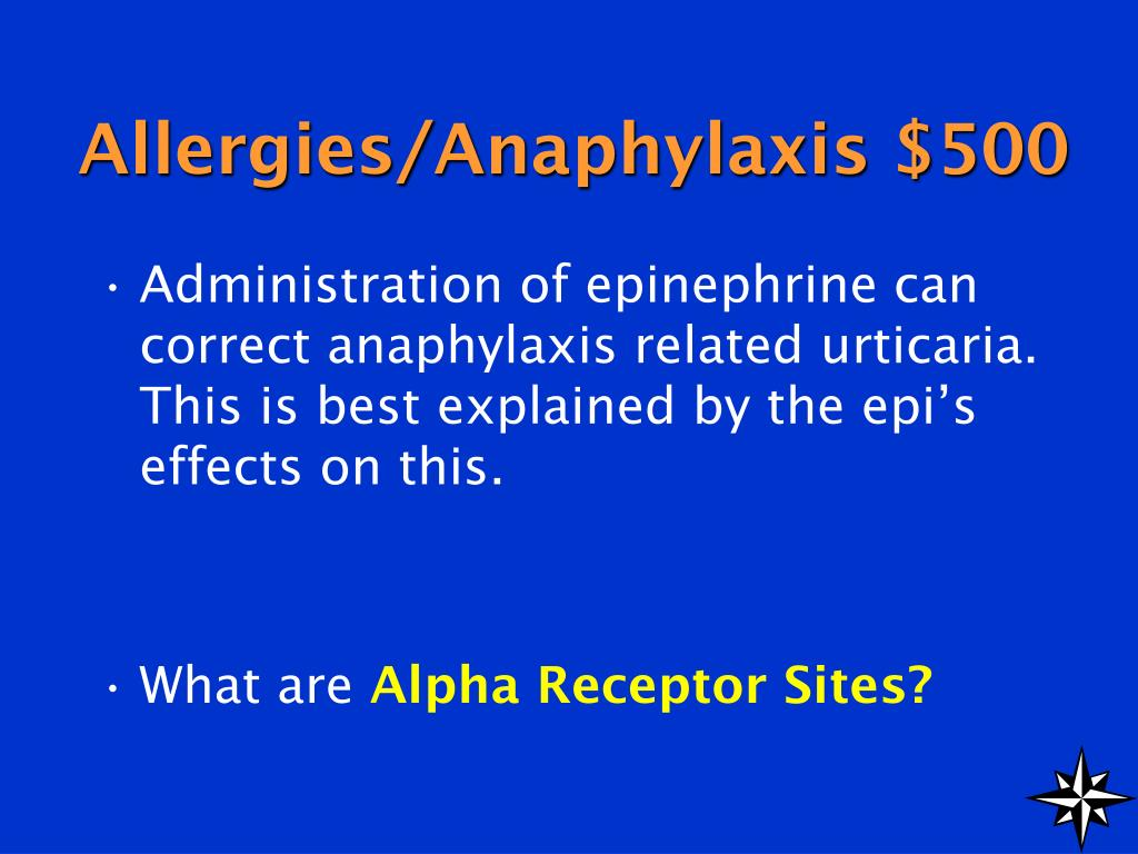 Allergies/Anaphylaxis $500