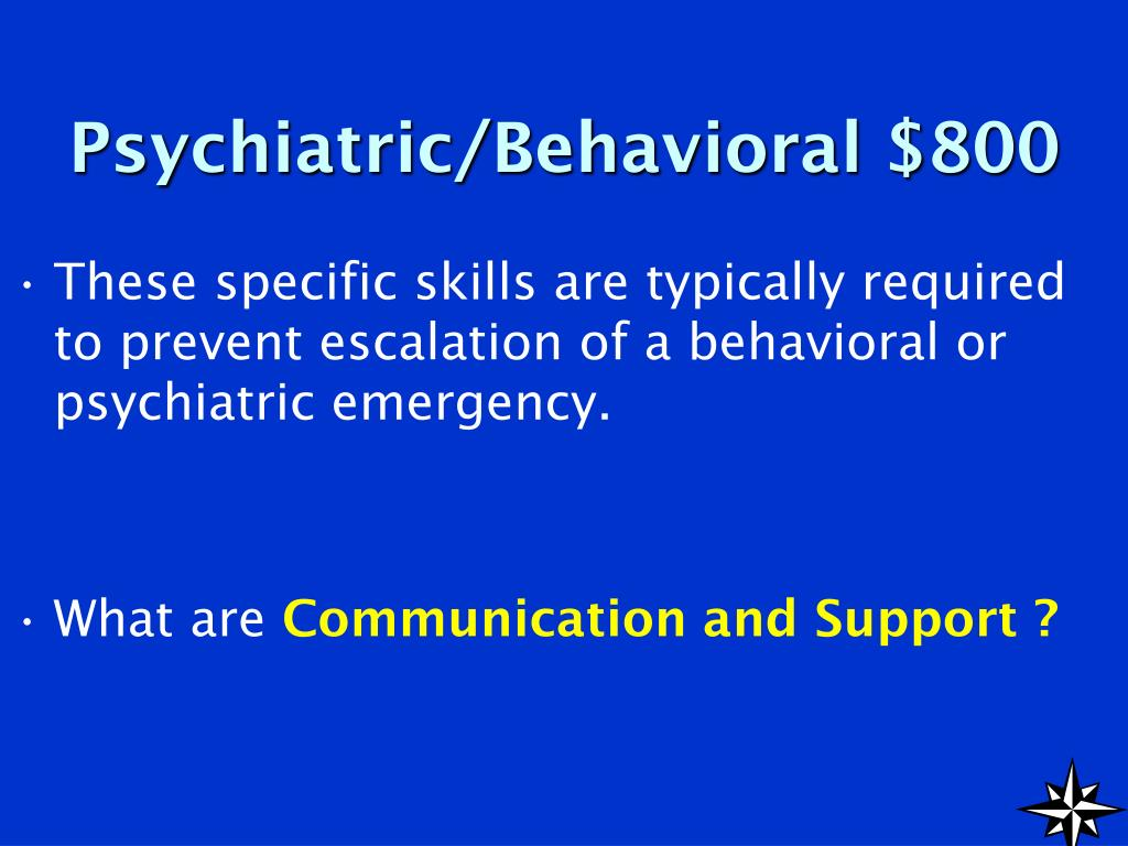 Psychiatric/Behavioral $800