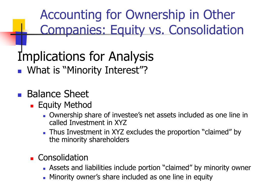 Accounting for Ownership in Other Companies: Equity vs. Consolidation