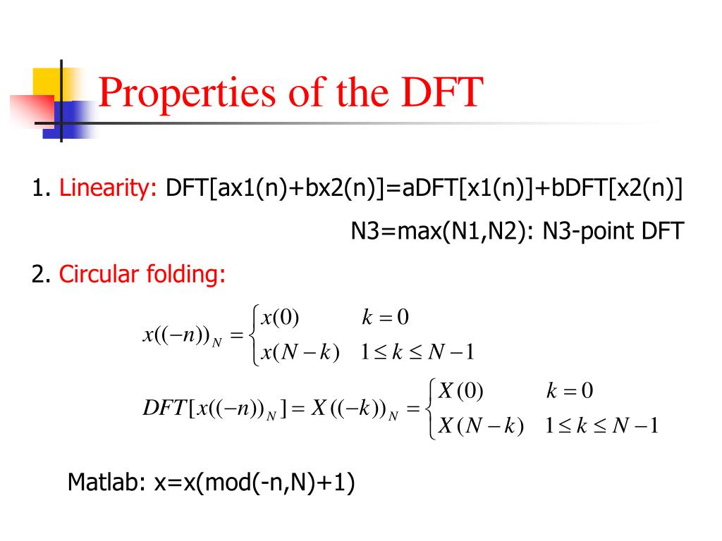 The DFT and the FFT