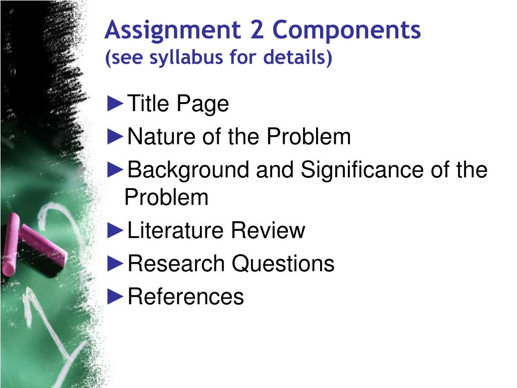 Assignment 2 Components