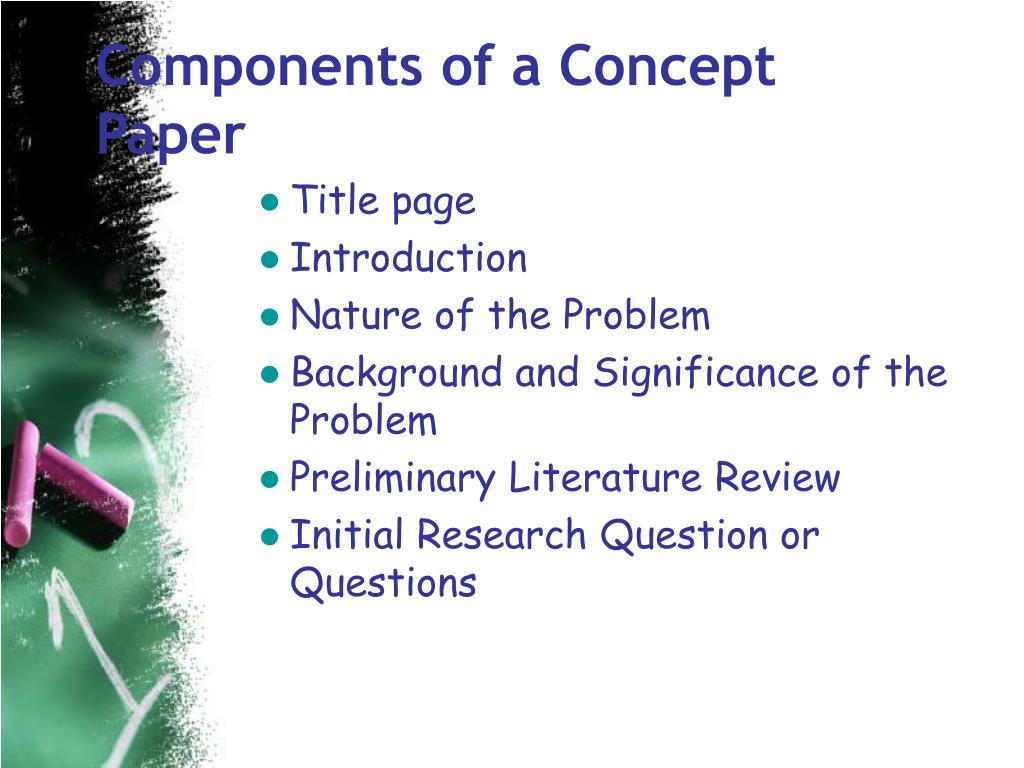 components of a research concept paper