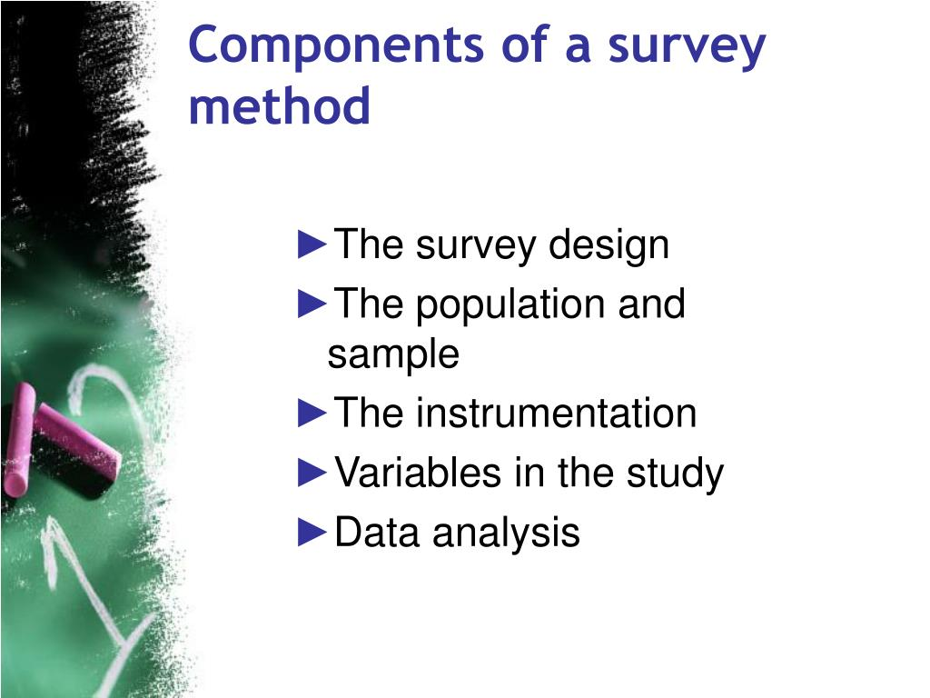 Components of a survey method