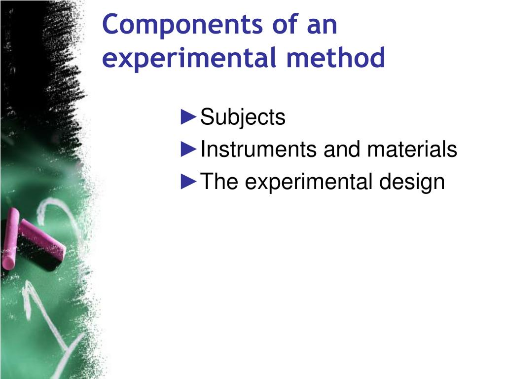 Components of an experimental method