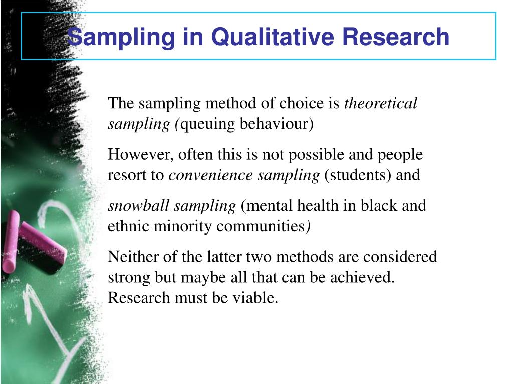 Sampling in Qualitative Research