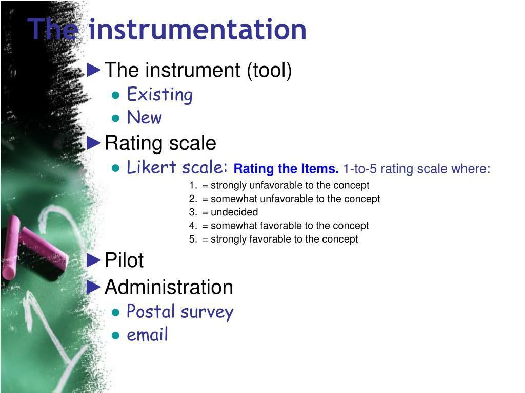 The instrumentation