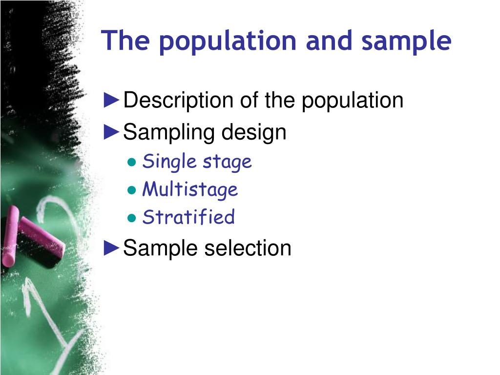 The population and sample
