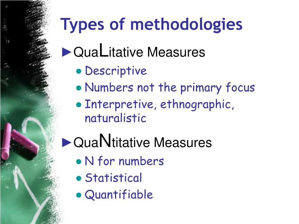 Types of methodologies