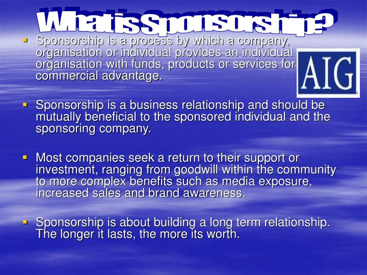 What is Sponsorship?