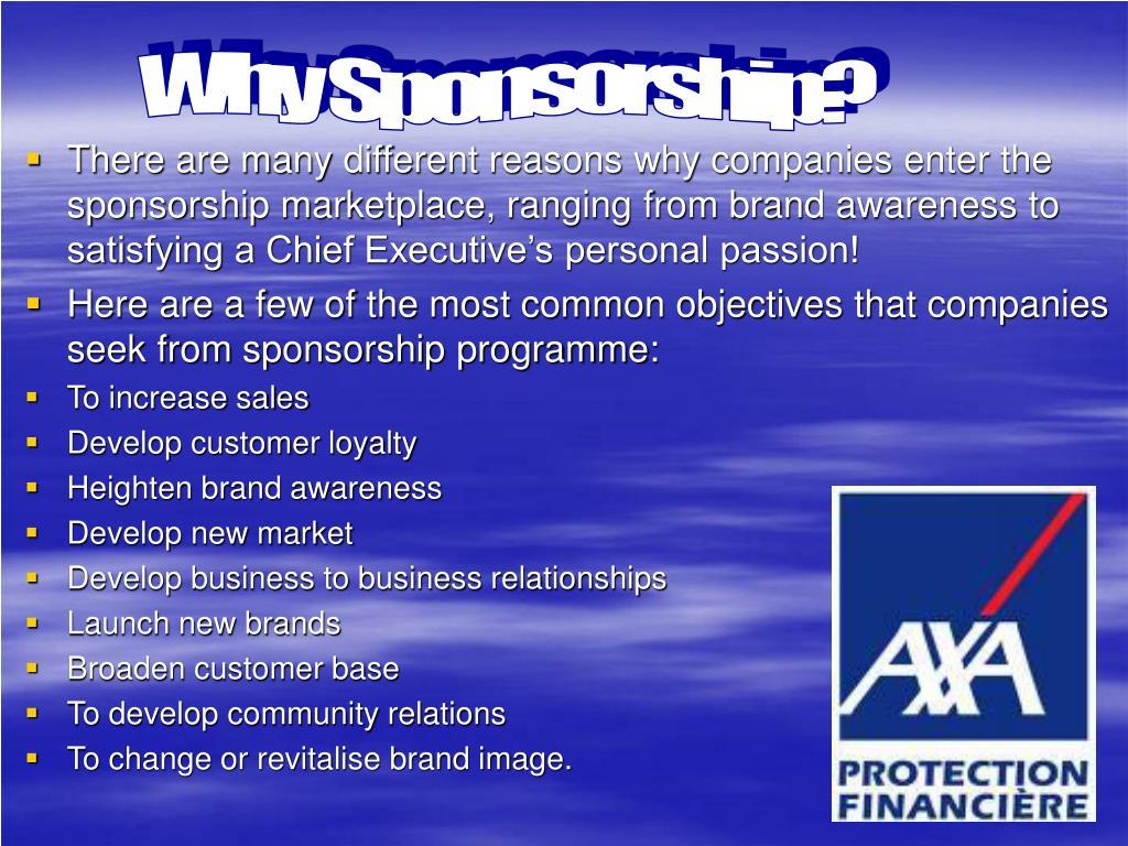 Why Sponsorship?