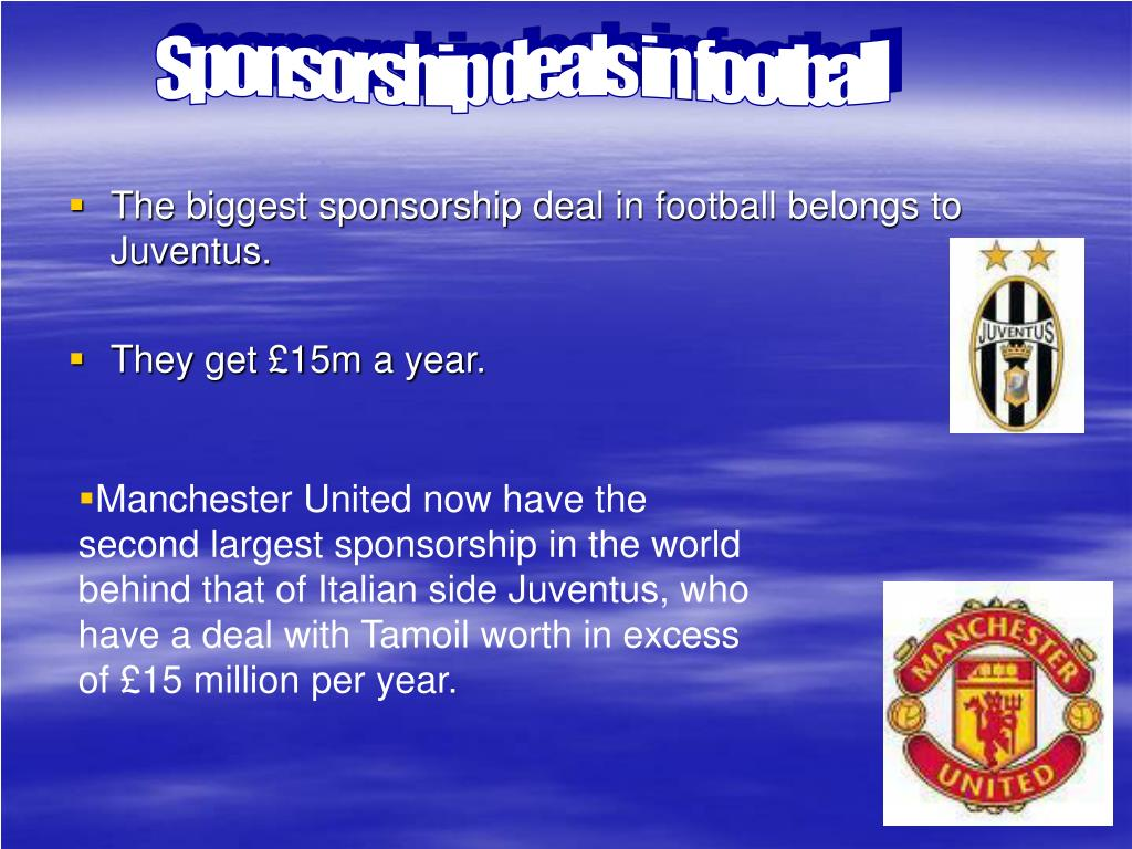 Sponsorship deals in football