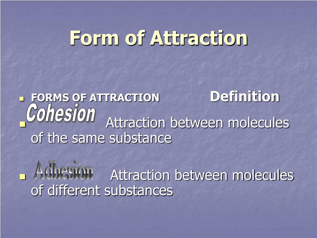 Form of Attraction