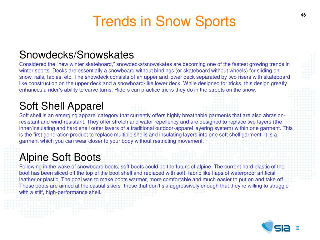Trends in Snow Sports