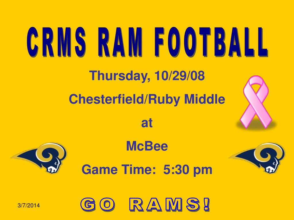 CRMS RAM FOOTBALL