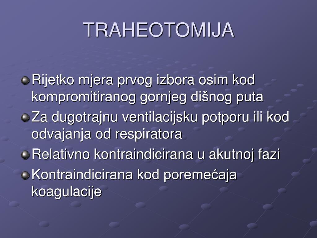 TRAHEOTOMIJA