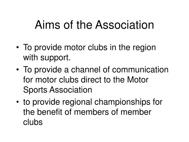 Aims of the association