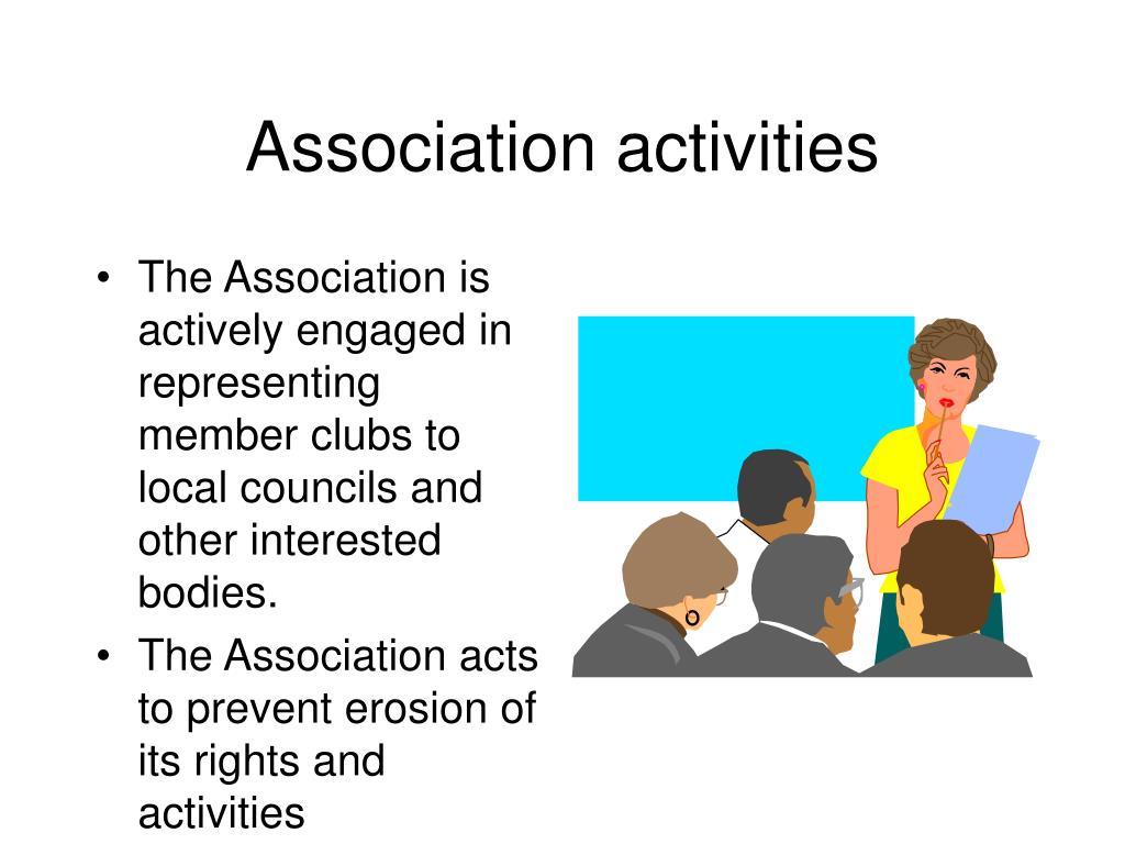 Association activities