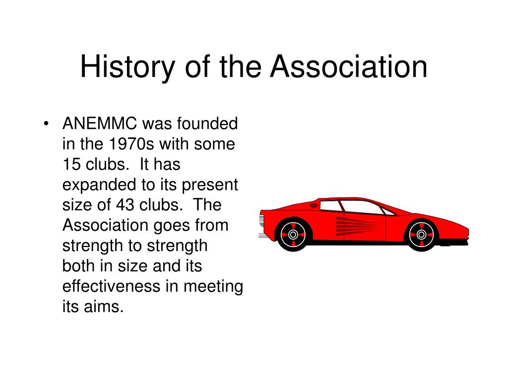 History of the Association