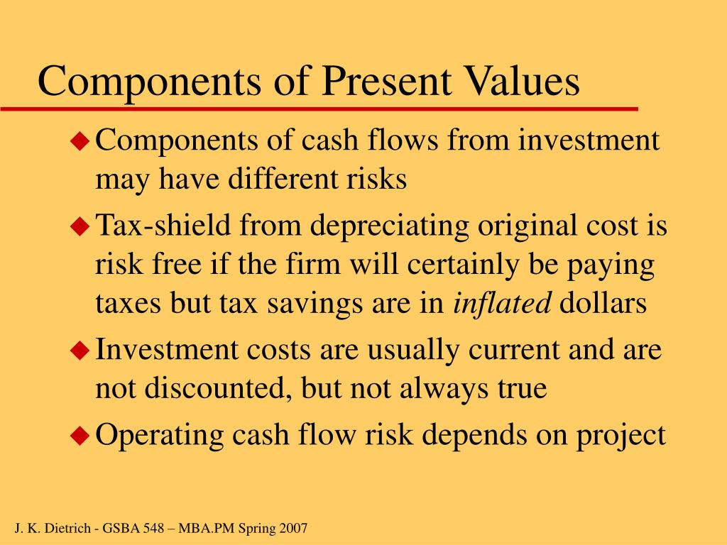Components of Present Values